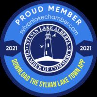 Sylvan Lake Chamber sticker 2021